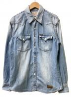 TOYS MCCOY(トイズマッコイ)の古着「デニムウエスタンシャツ」|ブルー