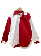 UMBRO(アンブロ)の古着「プルオーバーシャツ」|ホワイト×レッド