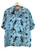 star of hollywood×VINCE RAY(スターオブハリウッド×ヴィンス・レイ)の古着「アロハシャツ」|スカイブルー