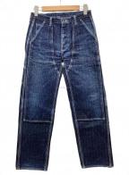 SAMURAI JEANS(サムライジーンズ)の古着「ダブルニーワークパンツ」 ネイビー