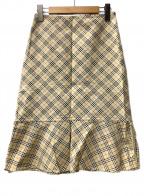 BURBERRY BLUE LABEL(バーバリーブルーレーベル)の古着「スカート」|ベージュ