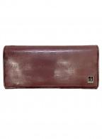 Calvin Klein(カルバンクライン)の古着「長財布」|ワインレッド