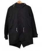 R.NEWBOLD(アールニューボールド)の古着「フーデッドコート」|ブラック