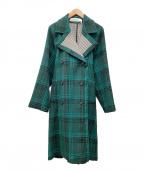 SEE BY CHLOE(シーバイクロエ)の古着「ウールコート」|グリーン