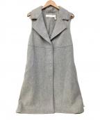 SEE BY CHLOE(シーバイクロエ)の古着「ノースリウールコート」|グレー