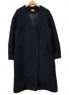 ()の古着「ウールコート」 ネイビー