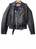 PERFECTO by Schott(パーフェクト バイ ショット)の古着「レザーライダースジャケット」 ブラック