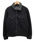 ()の古着「デニムボアジャケット」|ブラック