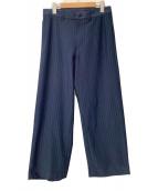 ()の古着「ストライプコックパンツ」 ネイビー