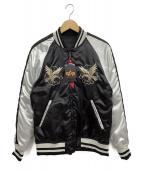 ALPHA INDUSTRIES(アルファ インダストリーズ)の古着「SOUVENIR JKT REVERSIBLE DRAGON」|ブラック×ホワイト