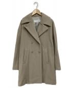 URBAN RESEARCH(アーバンリサーチ)の古着「lot lamb別注Pコート」|ライトグレー