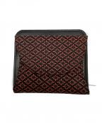 印傳屋(インデンヤ)の古着「2つ折り財布」|ブラック×レッド