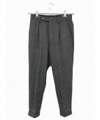 COMOLI(コモリ)の古着「ウールパンツ」|グレー