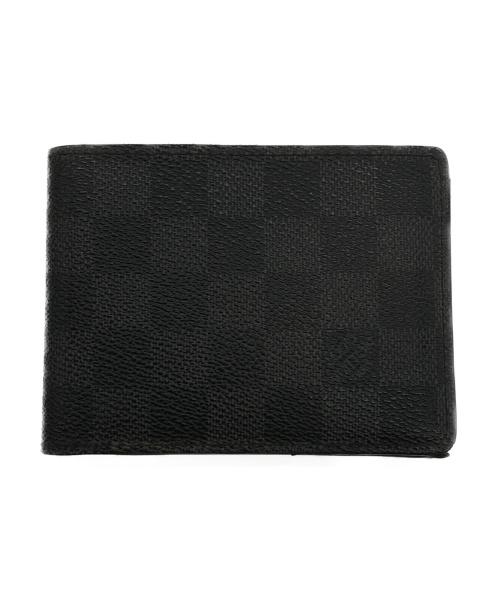 LOUIS VUITTON(ルイヴィトン)LOUIS VUITTON (ルイヴィトン) ポルトフォイユ・ミュルティプル ブラック サイズ:- ダミエ・グラフィットの古着・服飾アイテム