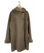 ROSSO(ロッソ)の古着「ファイクムートンロングコート」|カーキ