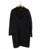 DKNY(ダナキャランニューヨーク)の古着「チェスターコート」|ブラック
