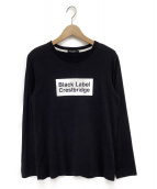 BLACK LABEL CRESTBRIDGE(ブラックレーベルクレストブリッジ)の古着「ボックスロゴカットソー」 ブラック