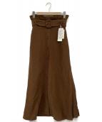 journal standard Lessage(ジャーナルスタンダード レサージュ)の古着「ポプリンベルテッドマキシスカート」 ブラウン
