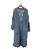 MACPHEE(マカフィー)の古着「ノーカラーワークコート」|ネイビー