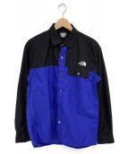 THE NORTH FACE(ザノースフェイス)の古着「ロングスリーブヌプシシャツ」|ブラック×ブルー