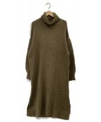Samansa Mos2(サマンサモスモス)の古着「ニットワンピース」|ブラウン