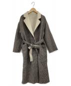 Mila Owen(ミラオーウェン)の古着「リバーシブルウールコート」|アイボリー