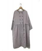 Samansa Mos2(サマンサモスモス)の古着「W釦コートワンピース」|ラベンダー