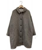 Samansa Mos2(サマンサモスモス)の古着「ワイドコクーンコート」|グレー