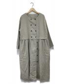 Samansa Mos2(サマンサモスモス)の古着「W釦コートワンピース」|グレー