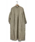 Samansa Mos2(サマンサモスモス)の古着「花刺繍ワンピース」|ベージュ