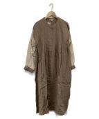 Samansa Mos2(サマンサモスモス)の古着「袖配色タックワンピース」|モカ