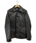 AVIREX(アビレックス)の古着「レザースイッチヤードコート」|ブラック