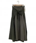 Samansa Mos2(サマンサモスモス)の古着「2枚重ねスカート」|カーキ