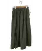 TSUHARU by samansa Mos2(ツハル バイ サマンサモスモス)の古着「エプロン付スカート」|ホワイト×グリーン