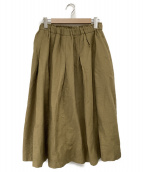 TSUHARU by Samansa Mos2(ツハル バイ サマンサモスモス)の古着「タックギャザースカート」|カーキ