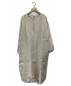 TSUHARU by samansa Mos2(ツハル バイ サマンサモスモス)の古着「裾草木刺繍ワンピース」 ベージュ