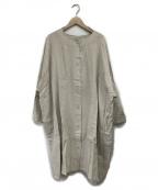 Samansa Mos2(サマンサモスモス)の古着「ワイドシルエットコート」|ベージュ