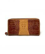 RODANIA()の古着「ワニ革長財布」|ブラウン