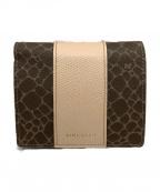 NINA RICCI(ニナリッチ)の古着「2つ折り財布」|ブラウン×ベージュ
