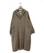 Samansa Mos2(サマンサモスモス)の古着「ムーミン総柄裏地コート」|ベージュ