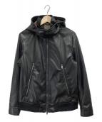 BLACK LABEL CRESTBRIDGE(ブラックレーベル・クレストブリッジ)の古着「レザージャケット」|ブラック