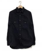 sanca(サンカ)の古着「ロングシャツ」 ダークネイビー