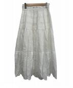TSUHARU by samansa Mos2(ツハル バイ サマンサモスモス)の古着「刺繍スカラップスカート」|アイボリー