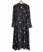 ROSSO(ロッソ)の古着「タックワンピース」 マルチカラー
