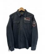 VANSON(バンソン)の古着「シャツジャケット」 ブラック