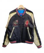 TED COMPANY(テッドカンパニー)の古着「スカジャン」|ブラック×ブルー