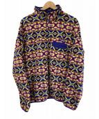 ()の古着「フリースジャケット」 イエロー×パープル