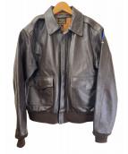 ()の古着「A-2レザージャケット」|ブラウン