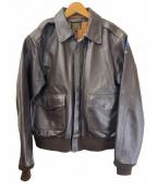 MORGAN PRODUCTS(モーガン プロダクツ)の古着「A-2レザージャケット」|ブラウン