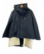 ()の古着「ライナー付ショートモッズコート M-65」|ブラック